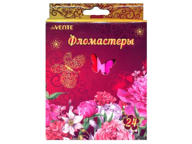 Фломастеры 24цв DeVente Flowers 5083710