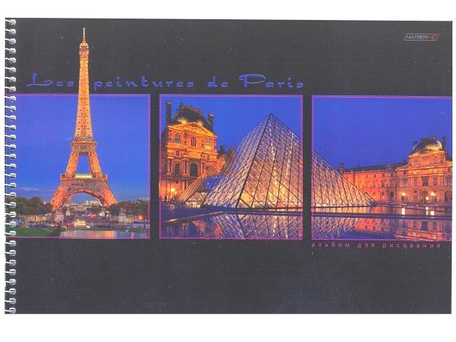 Альбом 48л А4 спираль Окна Парижа 120 г/м2 Hatber HD 48А4вмAсп_09931