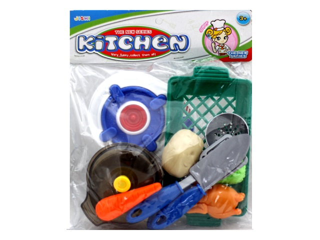 Посуда пластиковая 10 предметов Kitchen в пакете, арт. 869