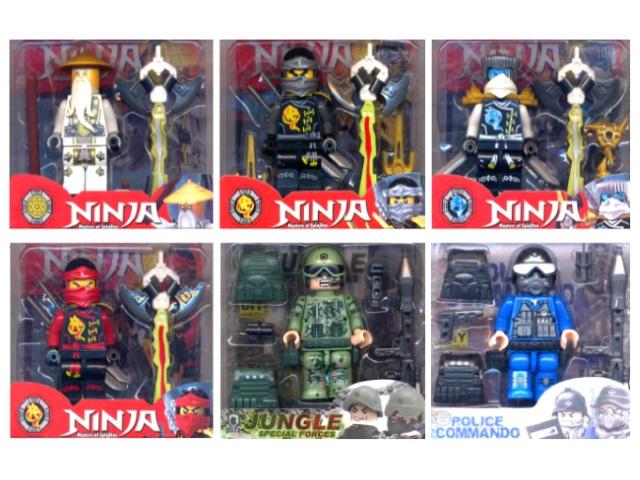 Фигурки Герои Ninja Police Jungle в пласт кор 2016/12