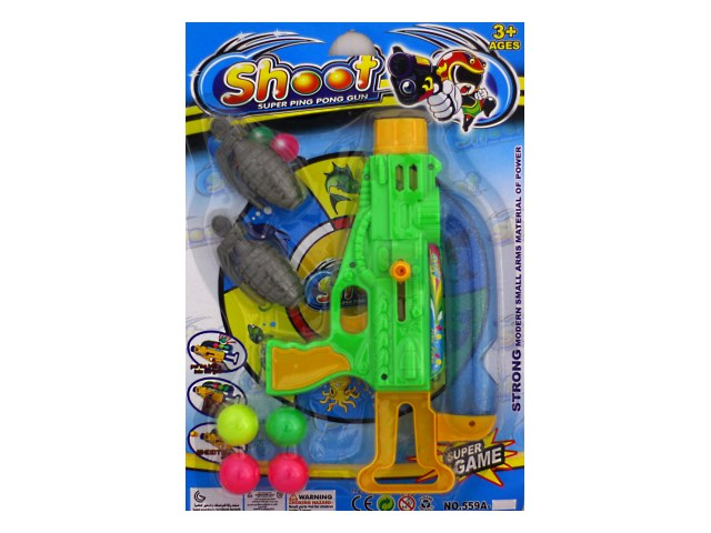 Бластер Shoot 4 шарика 2 гранаты 559А