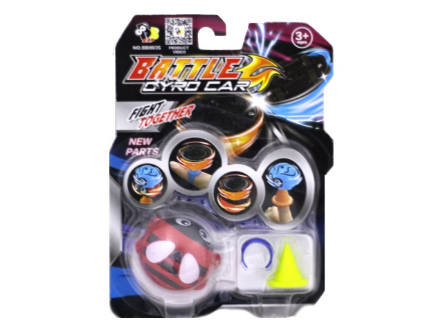 Запускная игрушка Божья коровка Battle Gyro Car