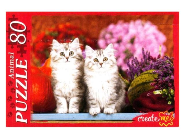 Пазлы   80 деталей Пушистые котята КБ80-4051