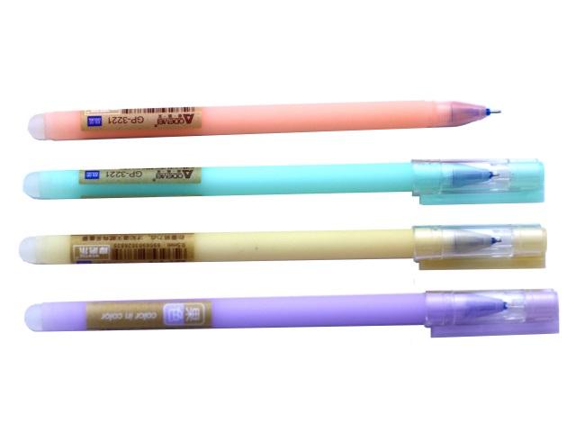Ручка пиши-стирай гелевая синяя 0.5 мм матовая, цвета в ассортимене, Basir GP-3221