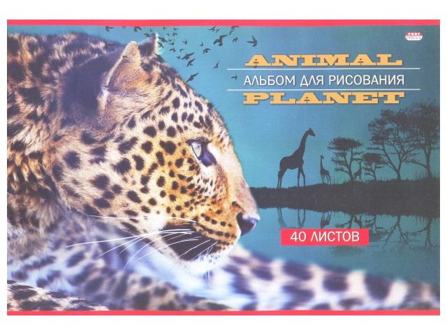 Альбом 40л А4 клееный Мир саванны 100 г/м2 Prof Press 40-8728