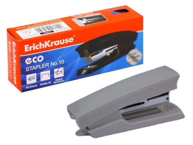 Степлер №10 20л пластик цветной с антистеплером EK-28234 28233