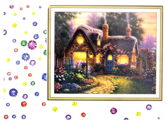 Алмазная мозаика 40*50 см Сказочный домик, Mazari М-6437