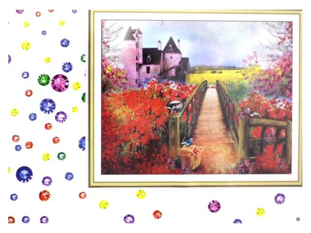 Алмазная мозаика 40*50 см Мостик к дому, Mazari М-6437
