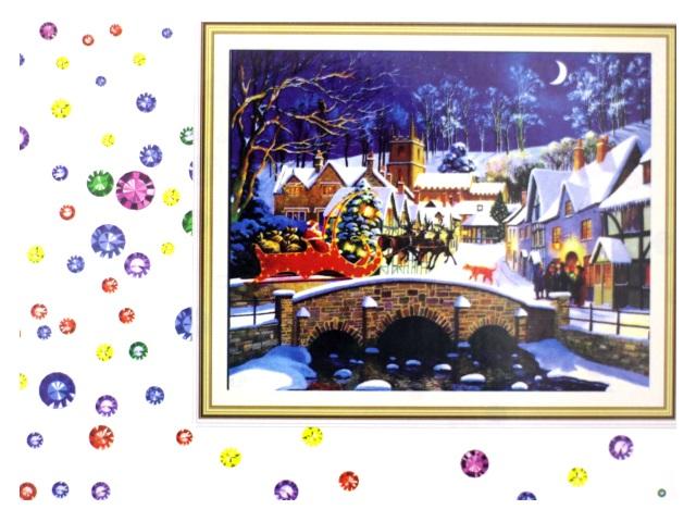 Алмазная мозаика 40*50 см Новогодняя сказка, Mazari М-6437