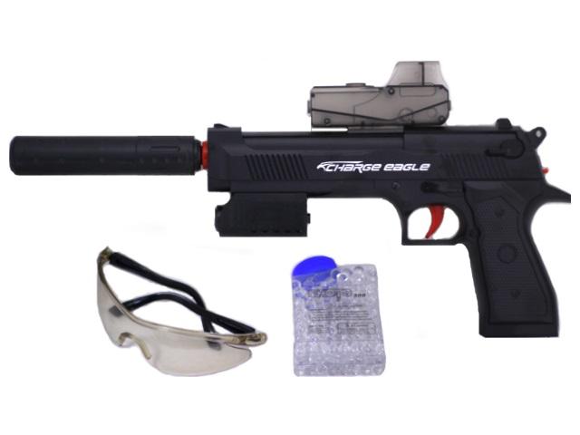 Пистолет с аккумулятором на гель пульках Desert Eagle + очки HT9911-1