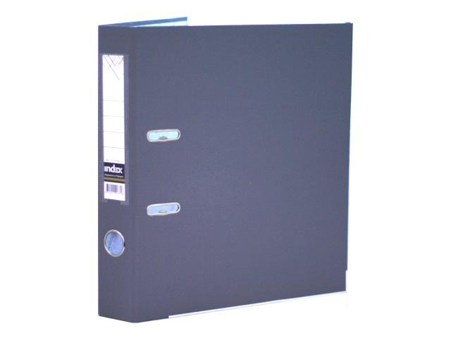 Регистратор  А4/50 Index серый с металлической окантовкой 5/50 PP NEW GY