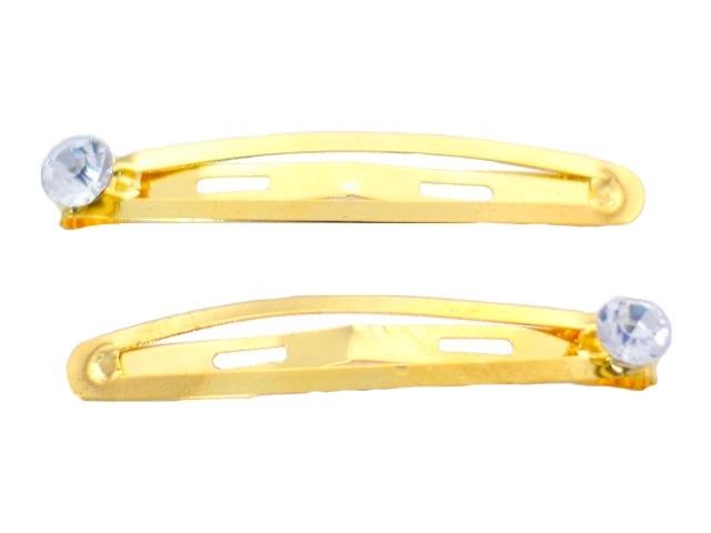 Заколки золото/серебро с камнем 12 шт.