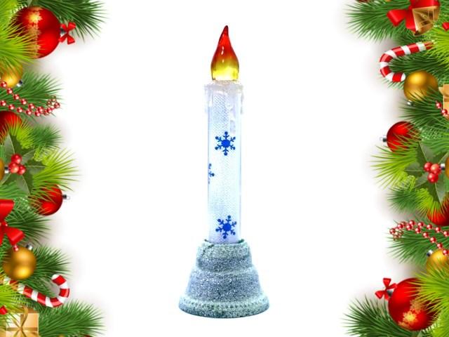 Свеча новогодняя на батарейках 16 см D27700