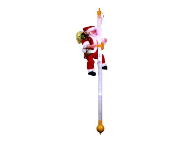 Дед Мороз на светящейся палке 15см музыкальный