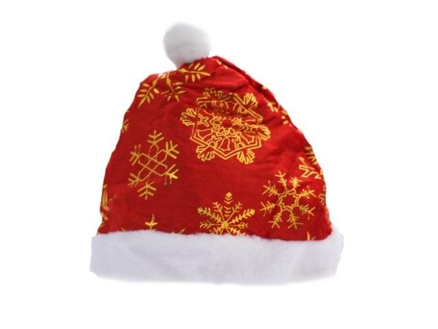 Шапка Деда Мороза снежинки 1707106-1