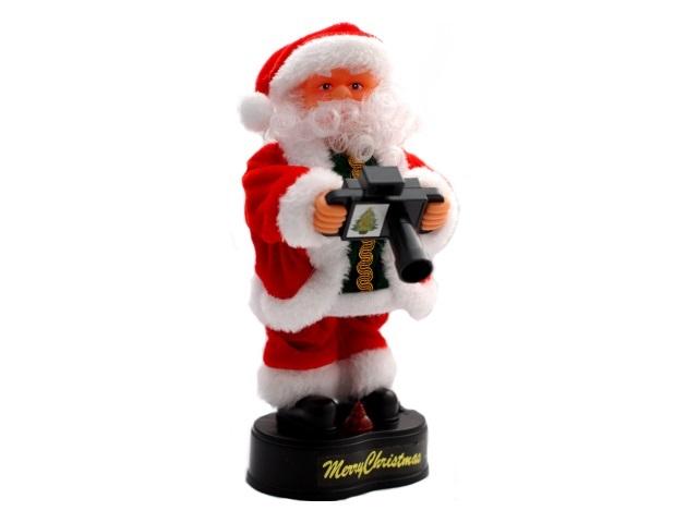 Дед Мороз с фотоаппаратом 22см музыкальный