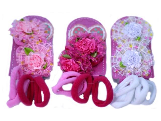 Резинки Цветочки-розочки ассорти 2 шт.