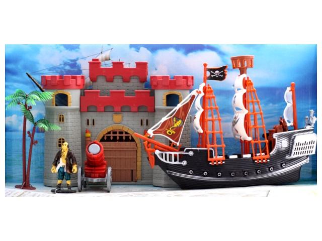 Корабль Пираты-1 с аксессуарами пластик в коробке, Рыжий кот И-7955