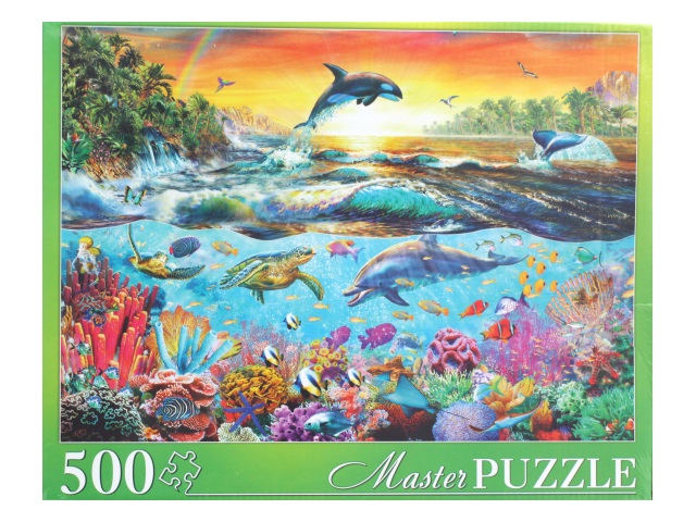 Пазлы  500 деталей Морской мир Masterpuzzle МГМП500-6169/6