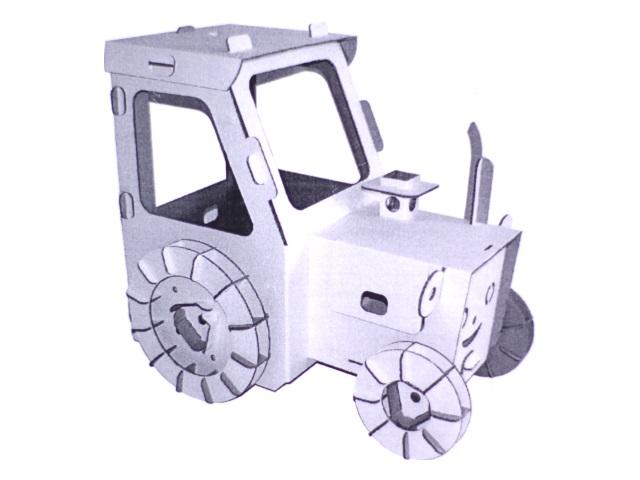 Сборная модель картон Трактор