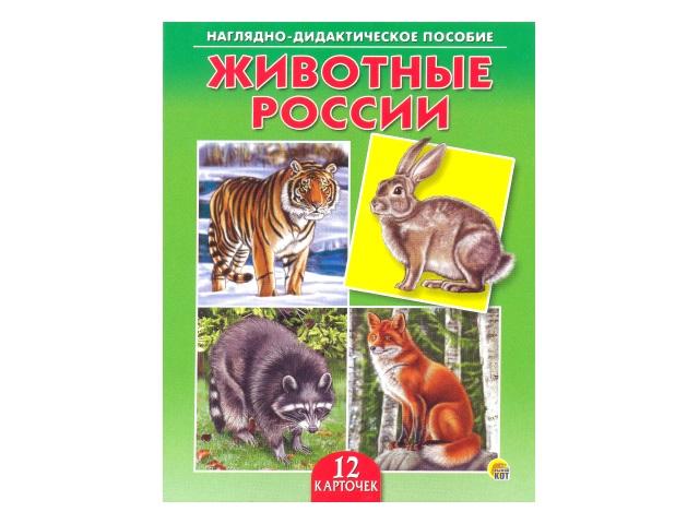 Обучающие карточки Животные России ПД-6898