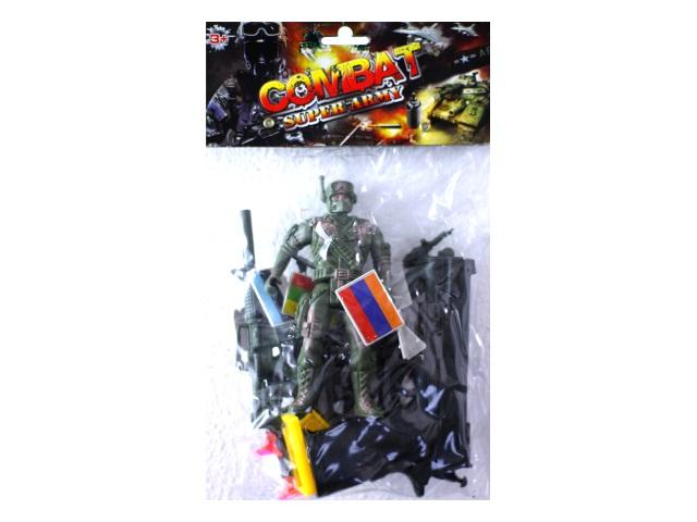 Военный набор Combat Super Army в пакете, Qinzhengyuan 3C
