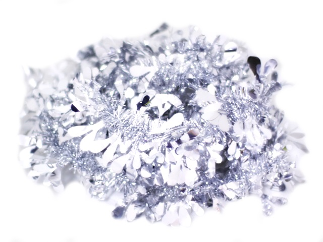 Мишура Пушистая серебро 200 см, J.Otten 6190