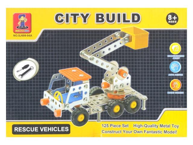 Конструктор металл 125 деталей City Build Mechanic 699-94