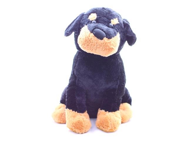 Собака большая чёрная 55см