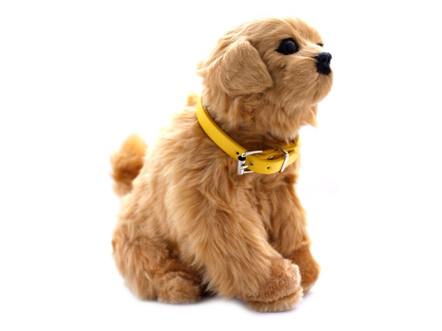 Мягкая игрушка Собака на батарейках с ошейником 19 см