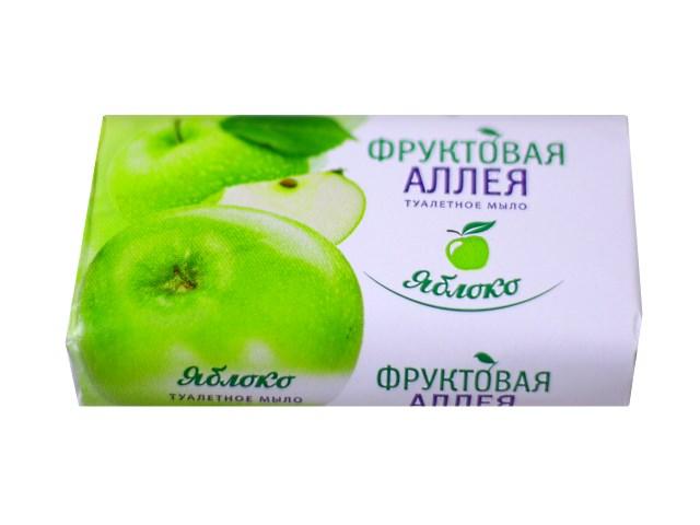 Мыло туалетное Яблоко 90 г, Фруктовая аллея