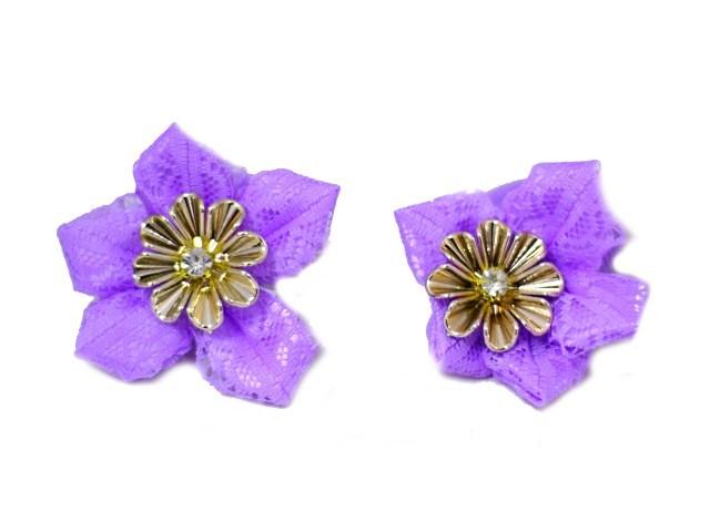 Резинки Цветочное ассорти с камнем 2 шт.