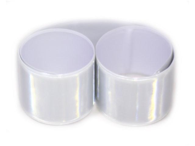 Светоотражатель-браслет Слэп белый М-7205