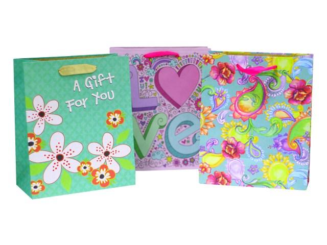 Пакет подарочный бумажный Нежность 23*19*10 см, Mazari М8016