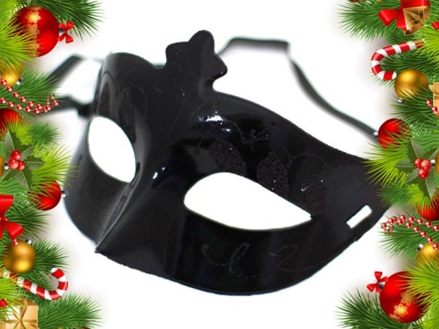 Маска карнавальная черная женская №2