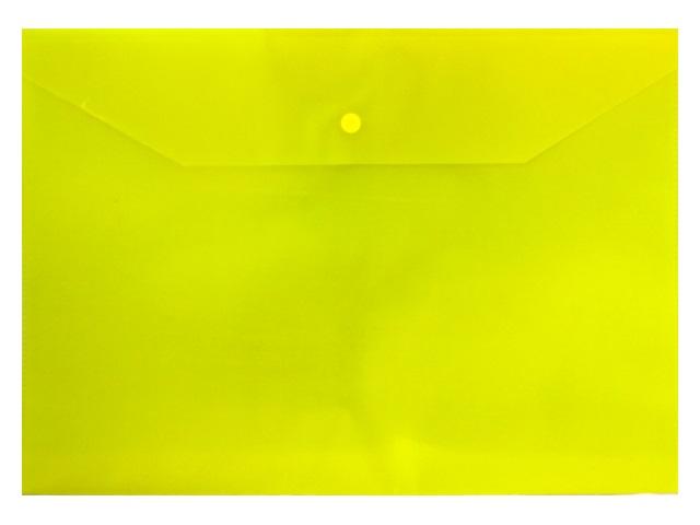 Папка конверт на кнопке А4 желтая 0.12мм Silwerhof 255080-11