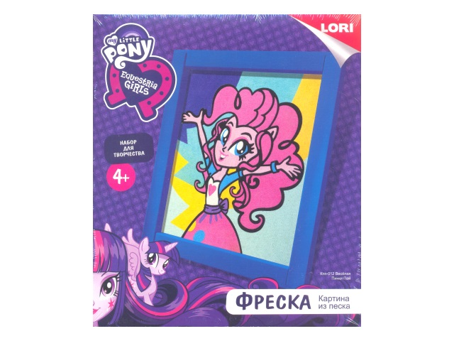 Фреска из песка My little pony Веселая Пинки Пай Кпп-012