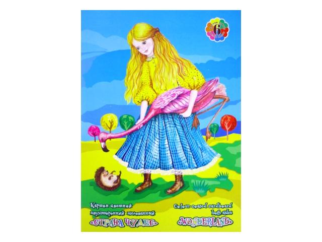 Картон цветной А3 6 листов 6 цветов двухсторонний Страна чудес/Фламинго, Лилия Холдинг НК-1066