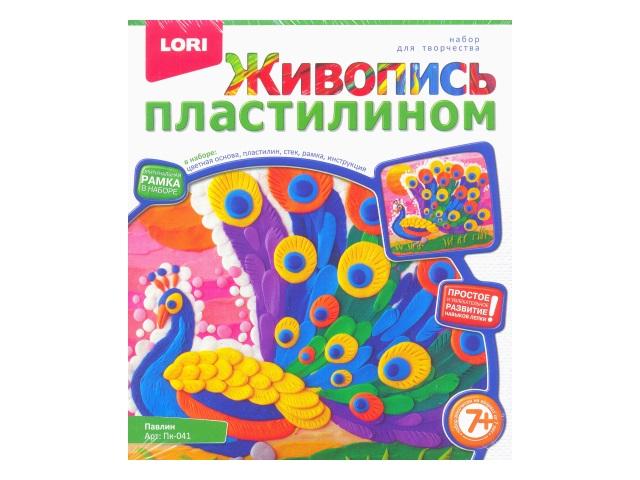 Живопись пластилином Павлин Пк-041