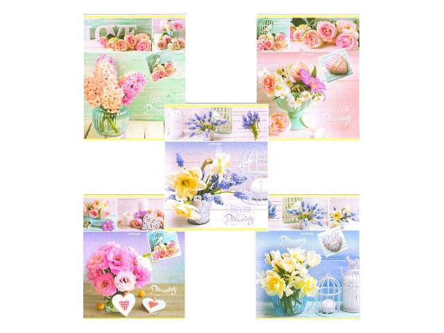 Тетрадь 48л линия Цветы в вазах-2 Prof Press 48Г-2778