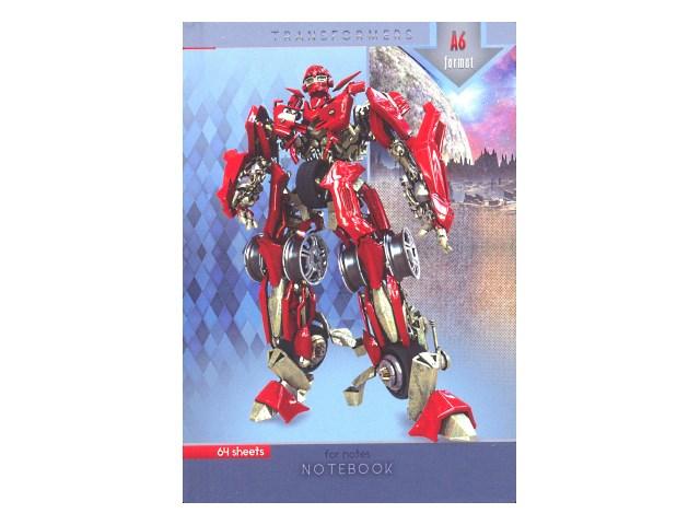 Записная книжка А6 тв/переплёт  64л Красный трансформер Prof Press 64-3381