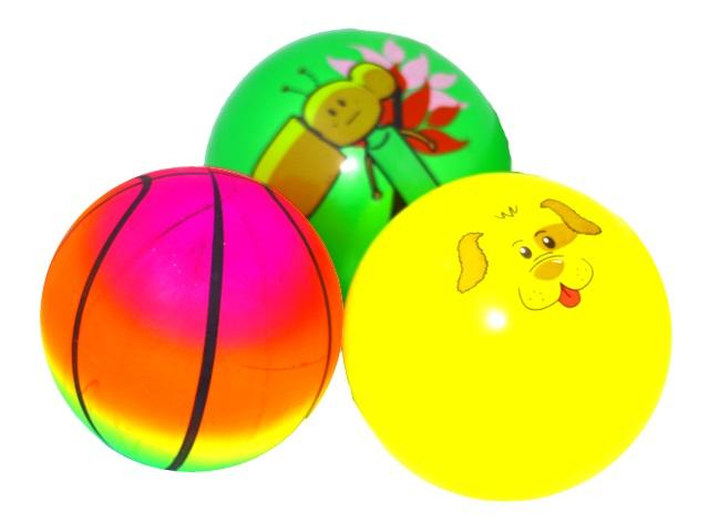 Мяч 22 см с рисунком S-3277. S-3278. S-3279