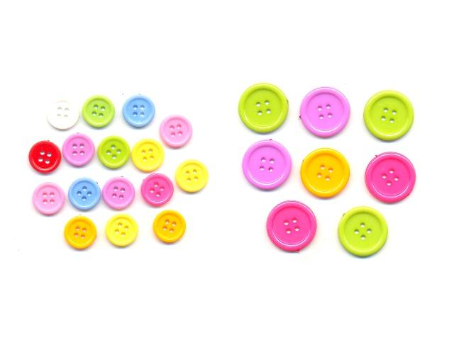 Декоративные пуговицы пластиковые цветные ассорти TZ-5501