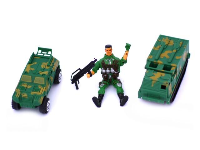 Военный набор ассорти Машина и Солдат 90032АВС