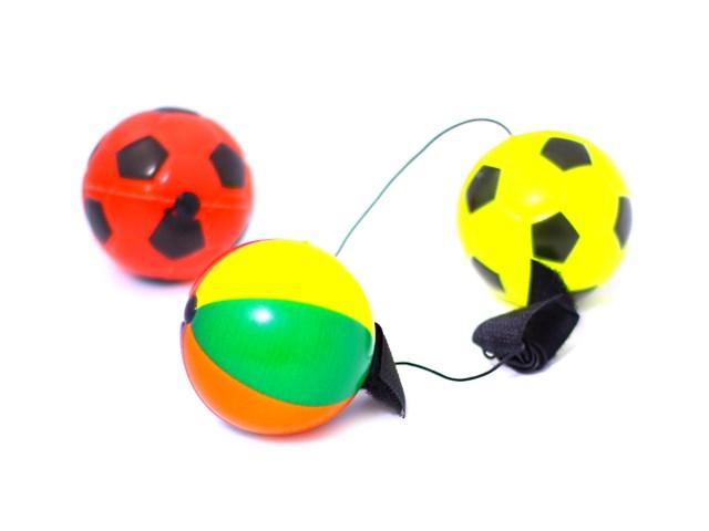 Мяч  6см с резинкой ассорти 3706 63707