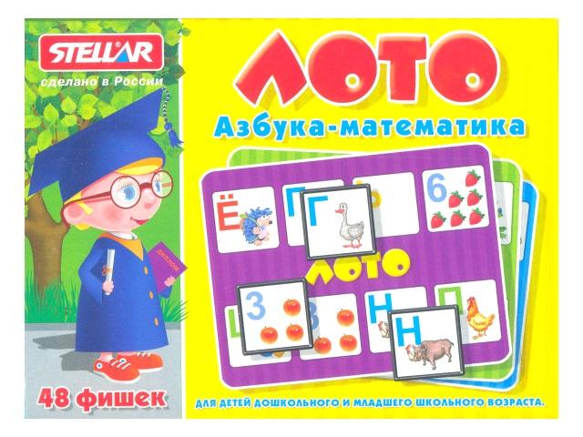 Лото Азбука - Математика 48 фишек 00902
