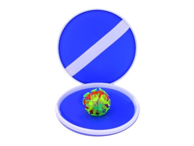 Игровой набор Поймай мяч 2 тарелки и мяч с присосками светящийся ассорти 63626