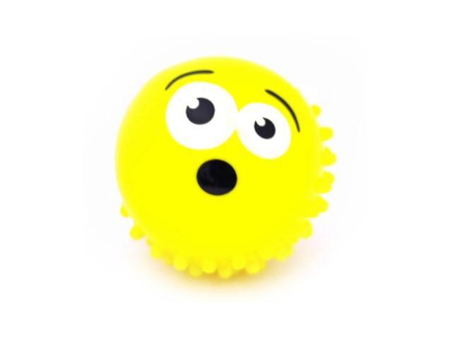 Мяч массажный 10 см Смайлик 635711