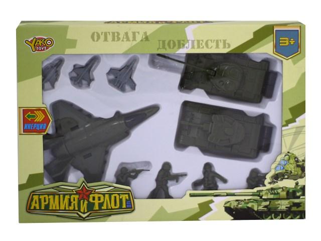 Военный набор 10 предметов Армия и флот М7101 в коробке