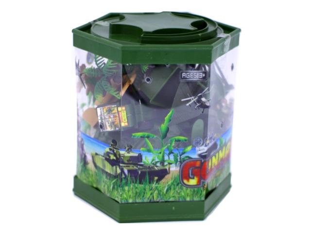 Военный набор 24 предмета Gunman в пластиковой тубе, арт. 3101С-64